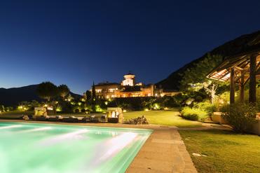 luxury villa finca sagitario at night